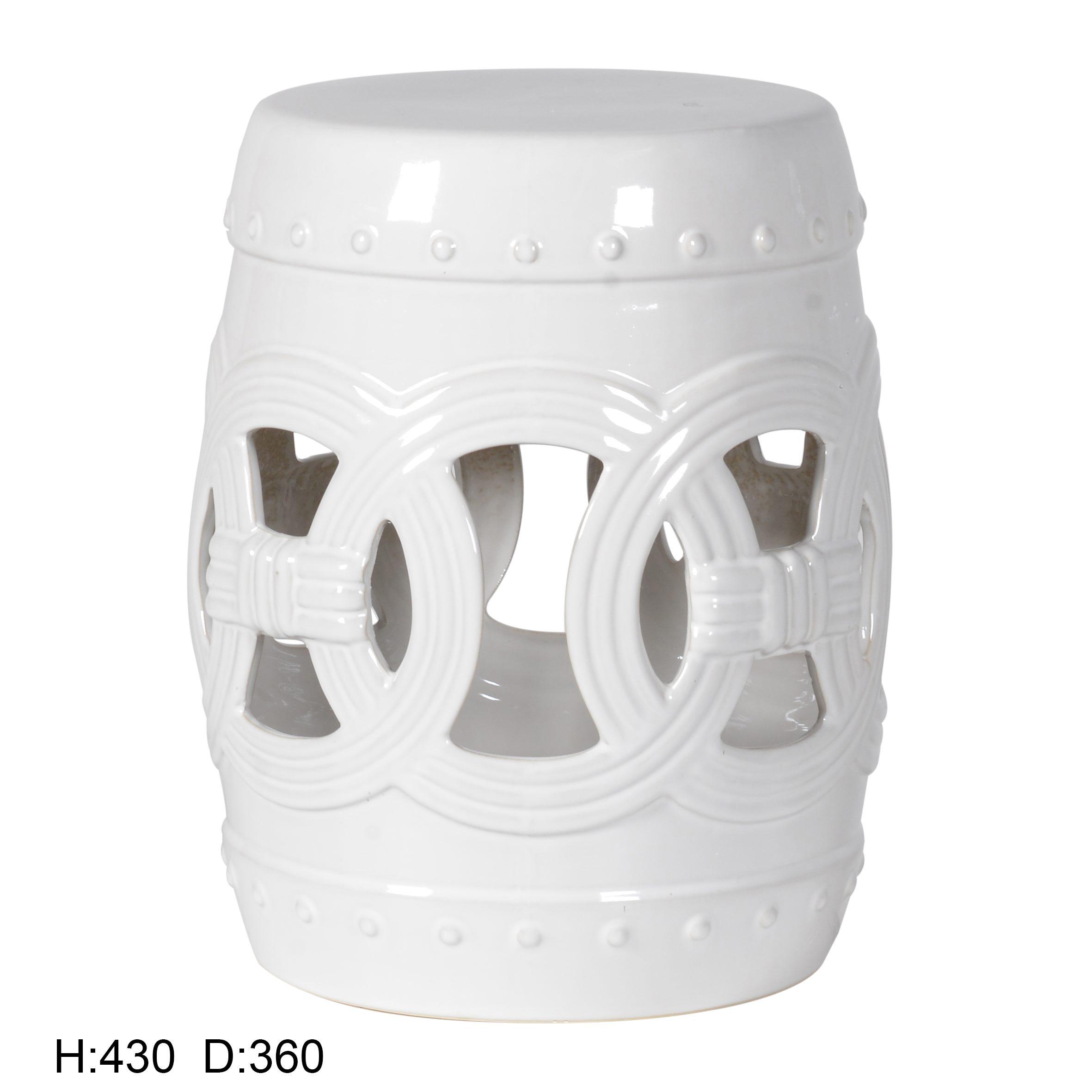 景德镇 镂空中高温色釉陶瓷凳厂家直销