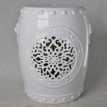 XY16-IW3209 景德镇 狮子头 中高温陶瓷镂空古典现代美式欧式做旧仿古陶瓷凳厂家直销
