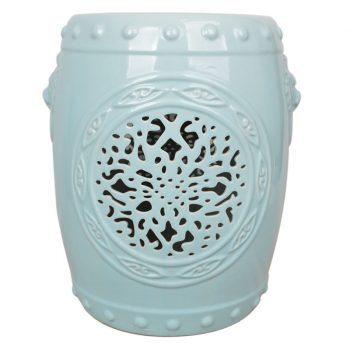 XY16-ML3209    景德镇 狮子头 中高温陶瓷镂空古典现代美式欧式做旧仿古陶瓷凳厂家直销