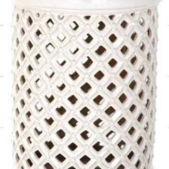 XY16-NB3201    景德镇 镂空圆形瓷墩中高温色釉陶瓷凳室内室外摆设淘宝代发