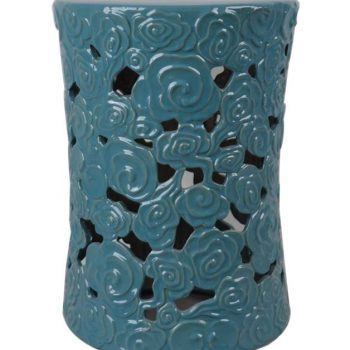 XY16-NL3230D     景德镇 陶瓷凳子瓷墩花园凳中高温色釉镂空厂家直销