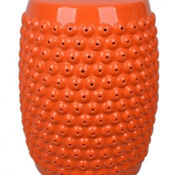 XY16-OR3221    景德镇 陶瓷凳子瓷墩花园凳中高温色釉镂空厂家直销