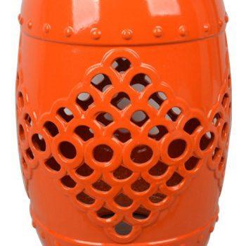 XY16-OR3277    景德镇 陶瓷凳子瓷墩花园凳中高温色釉镂空厂家直销