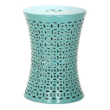 XY16-QL3204    景德镇 中高温破坏仿古做旧古典镂空中高温陶瓷凳简约美式厂家直销