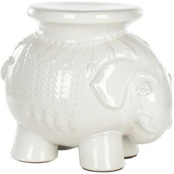 XY16-SF-ACS4501A   景德镇 中高温色釉大象凳子 凉墩 陶瓷凳 厂家直销