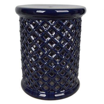 ZL3201   景德镇    中高温陶瓷镂空古典现代美式欧式做旧仿古陶瓷凳厂家直销