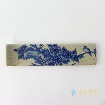 RYEJ18-A    景德镇 傲霜秋菊-陶土 陶瓷 香板香插 陶泥 香佛具线香 香板 塔香 品香用具