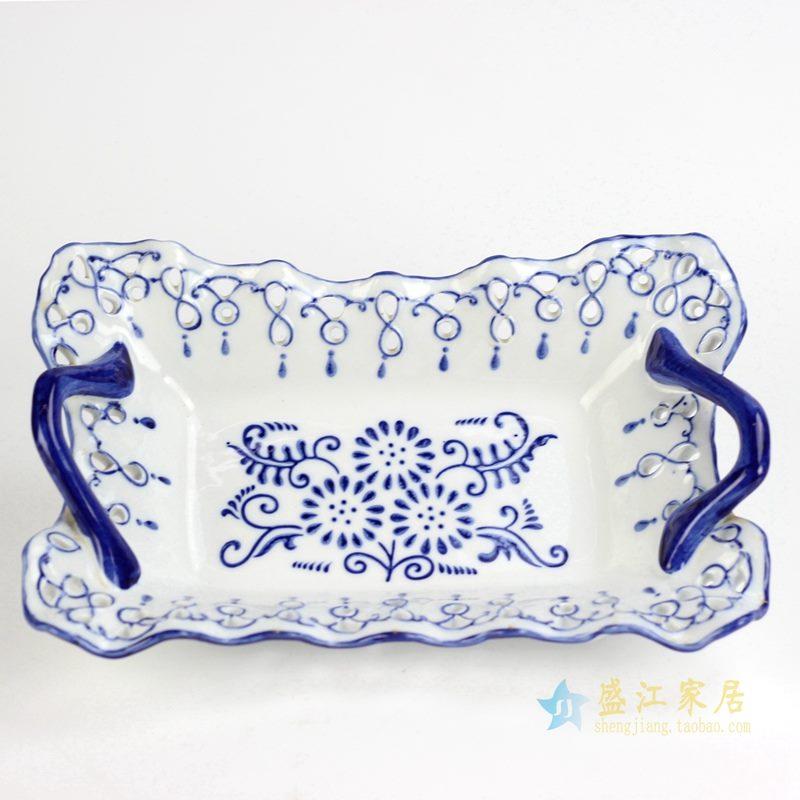 景德镇 青花水果盘 12寸 日用陶瓷品 厂家直销