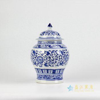 RZBG12   景德镇青花缠枝  茶叶罐 罐子储物柜将军罐  厂家直销