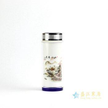 RZIN01-A     景德镇   山水 保温杯  水杯 茶杯陶瓷用品