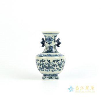 RZIQ03 景德镇 手绘青花缠枝 串花瓶 艺术摆件品