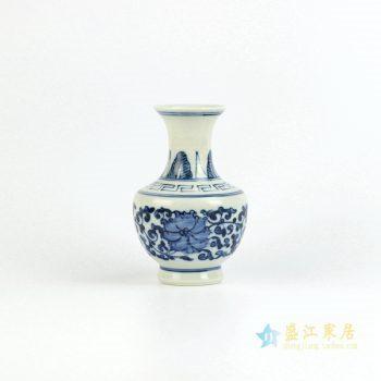 RZIQ04    景德镇 手绘青花缠枝 小花插 小花瓶 艺术摆件品