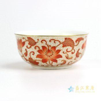 RZIT01-A 景德镇 红花 粉彩珐琅彩刻金 手绘 功夫茶杯 品茗杯 小茶杯 厂家直销