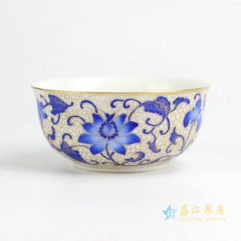 RZIT01-B 景德镇 蓝花 珐琅彩刻金 手绘 功夫茶杯 品茗杯 小茶杯 厂家直销