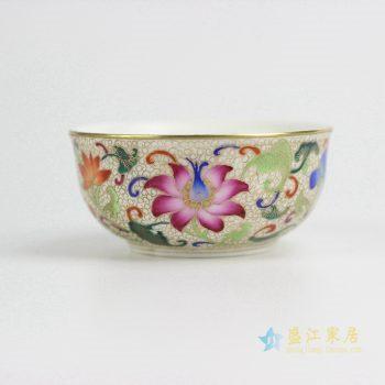 RZIT01-C 景德镇 粉彩珐琅彩刻金 手绘 功夫茶杯 品茗杯 小茶杯厂家直销