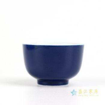 RZIU01-A    景德镇   高温色釉 祭兰 功夫茶杯 品茗杯 小茶杯   厂家直销