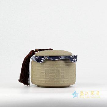 RZIV01    景德镇   陶泥 雕刻 储物罐茶叶罐 厂家直销