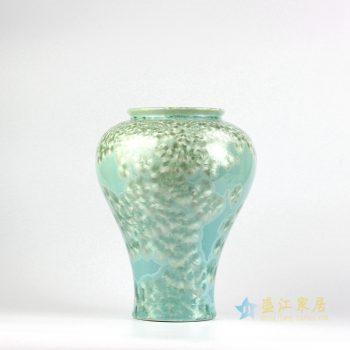 RZIW01 景德镇  窑变 结晶釉 宽口花瓶   厂家直销
