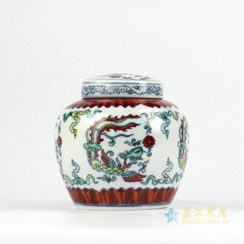 RZIZ01     景德镇   青花斗彩 仿古 小茶叶罐 储物罐    厂家直销