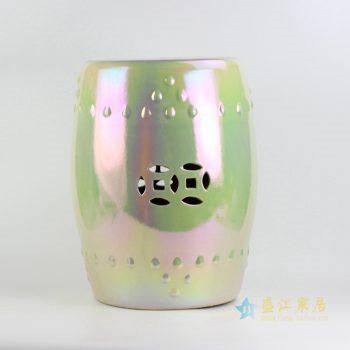 rykb111-d 景德镇 荧光贝壳高温颜色釉 瓷凳 凉墩凳子
