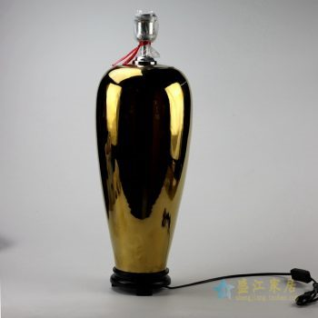ds81-rykb119-g   景德镇  镀金陶瓷台灯   灯具  艺术摆件品