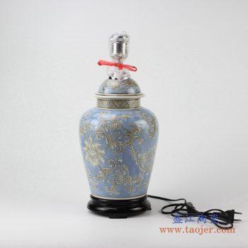 ds83-rypu35      颜色釉陶瓷台灯底坐   景德镇厂家直销
