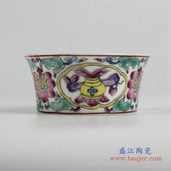 ryic34    粉彩小单杯   茶杯水杯厂家直销  景德镇