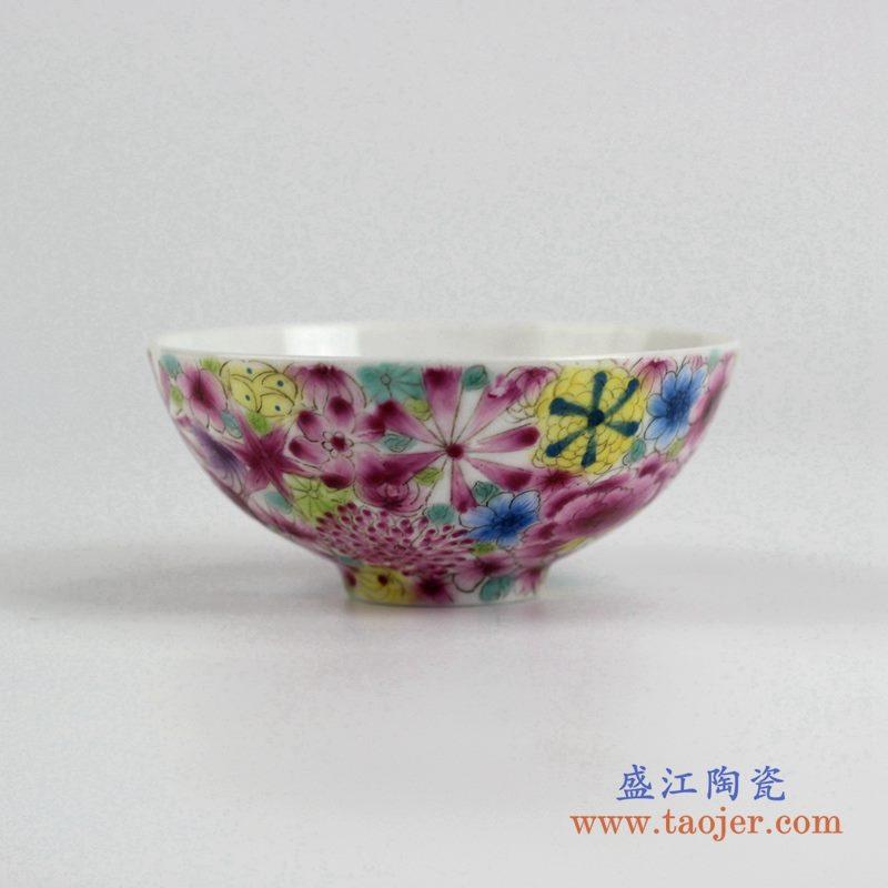 粉彩小单杯 水杯茶杯 景德镇 厂家直销