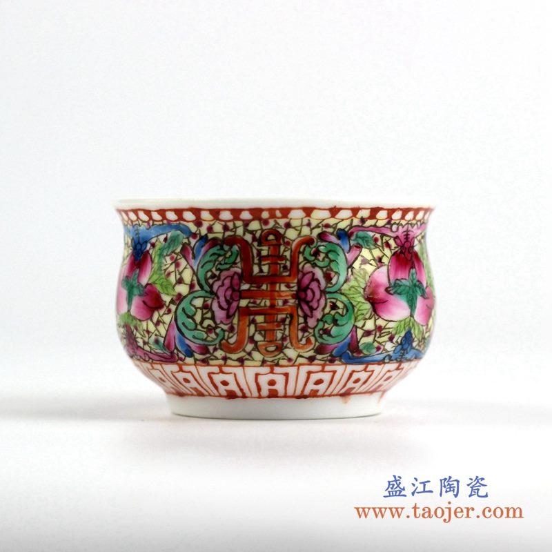 粉彩茶杯水杯厂家直销  景德镇