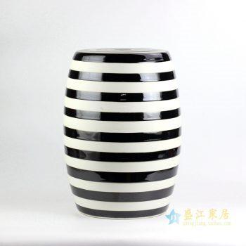 ryir116   黑白条纹凉凳  花园凳  浴室凳   景德镇厂家直销