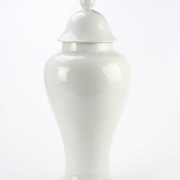 rykb112-b    颜色釉白色将军罐 艺术摆件品  厂家直销
