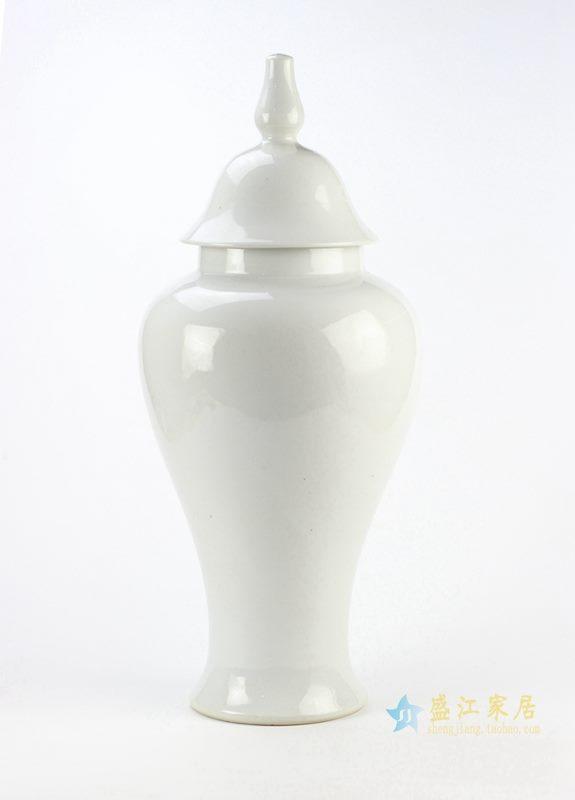颜色釉白色将军罐 艺术摆件品 厂家直销