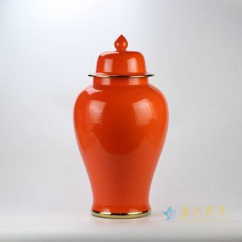 rykb112-m    颜色釉将军罐   景德镇  红色罐  艺术摆件品 厂家直销