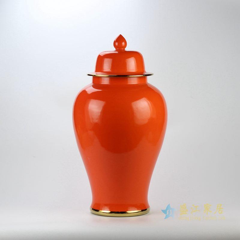 颜色釉将军罐   景德镇  红色罐  艺术摆件品 厂家直销