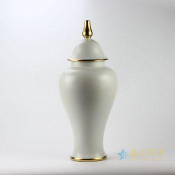 rykb112-d    白色颜色釉将军罐  景德镇  厂家直销艺术摆件品