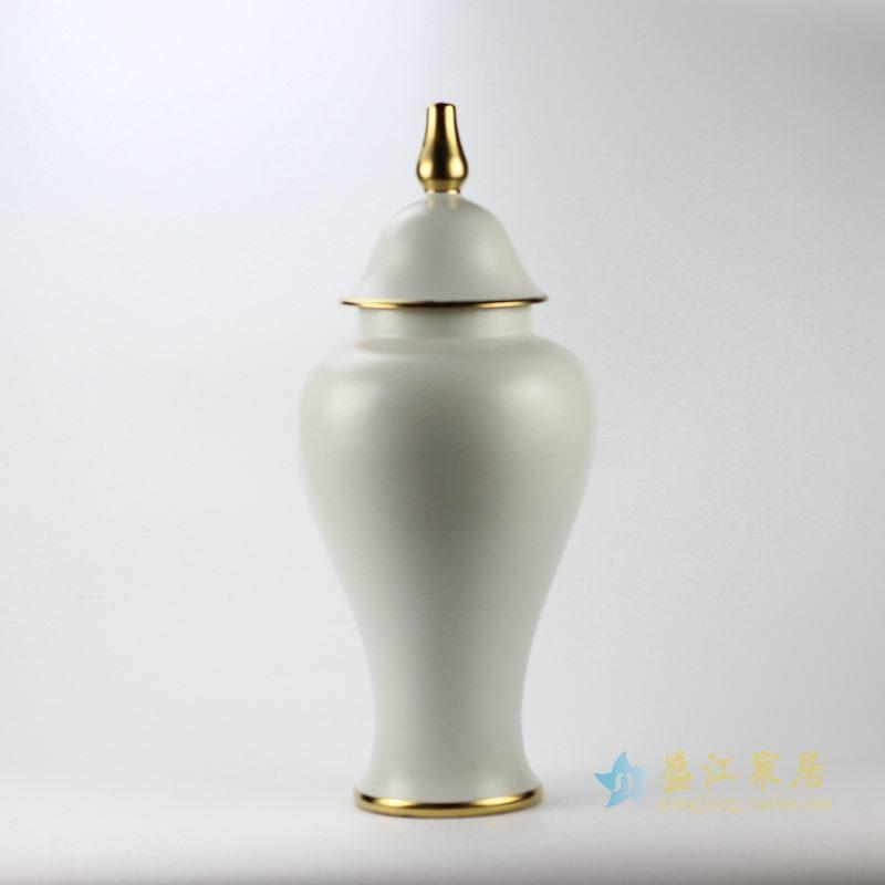 白色颜色釉将军罐  景德镇  厂家直销艺术摆件品