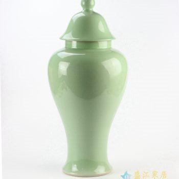 rykb112-i    颜色釉  浅绿将军罐     艺术摆件品  厂家直销