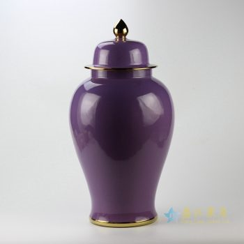 rykb112-l   颜色釉将军罐   景德镇 紫色罐  艺术花瓶  摆件品