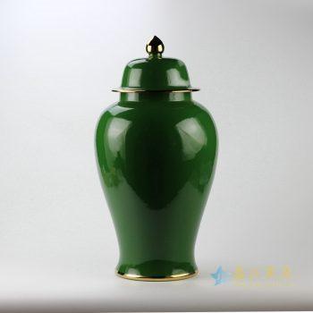 rykb132-l   景德镇   颜色釉 绿色将军罐  艺术摆件品   厂家直销