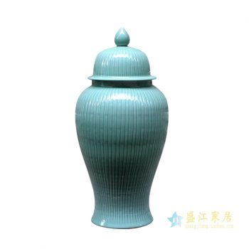 rykb140-c    颜色釉将军罐 深兰色艺术花瓶 摆件品 厂家直销