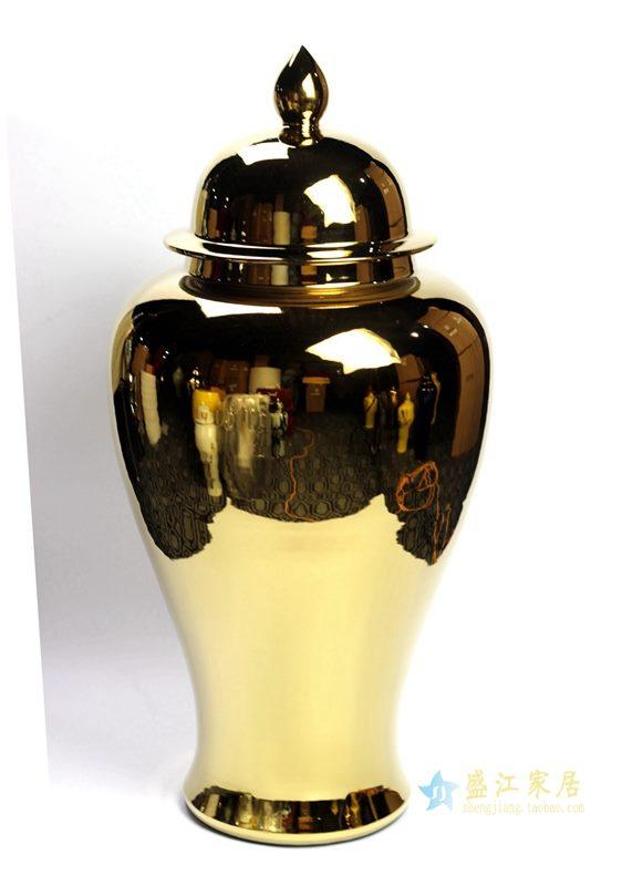镀金将军罐艺术瓶摆件品厂家直销