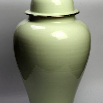 rykb140-f     颜色釉  淡绿将军罐  艺术花瓶 厂家直销