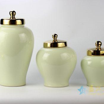 rykb146-a   景德镇 颜色釉罐 淡绿色储物罐 厂家直销