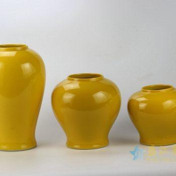 rykb146-e   景德镇   颜色釉罐子  黄色储物罐  厂家直销