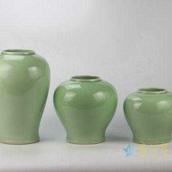 rykb146-g     颜色釉 青釉罐   储物罐 厂家直销 景德镇