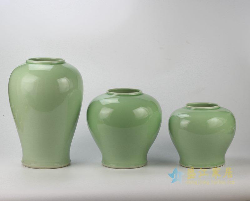 颜色釉 青釉罐 储物罐 厂家直销 景德镇