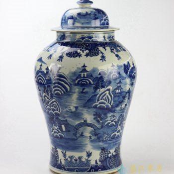 rylu90-b  景德镇  青花将军罐花瓶 艺术品特价促销