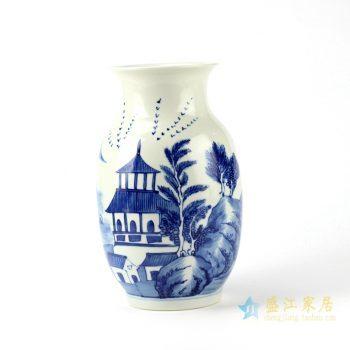 rylu94    青花手绘花瓶  艺术摆件品 景德镇厂家直销