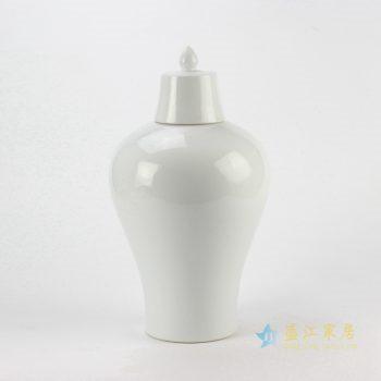 rynq178-a   景德镇 白色 将军罐 罐子 盖罐   厂家直销