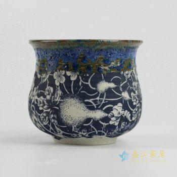 ryyf29-b     陶艺窑变花釉葫芦花盆